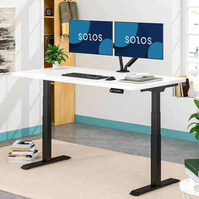 Advanced Standing Desk(White Top&Black Leg)